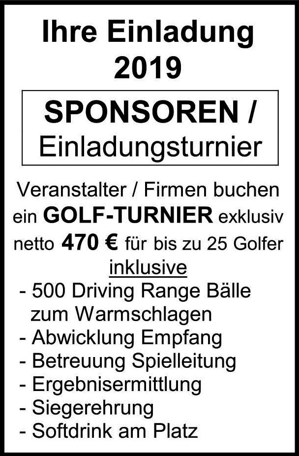 Sponsoren Einladungsturnier